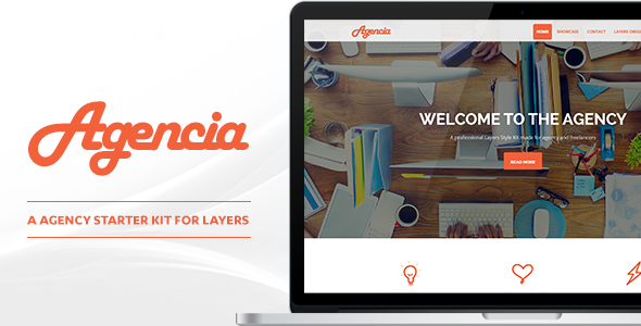 CodeCanyon Agencia Agency Style Kit for Layers 11897254