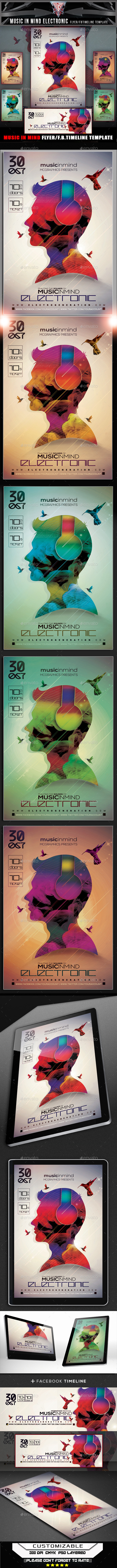 GraphicRiver Music In Mind Electronic Flyer Template 11955736