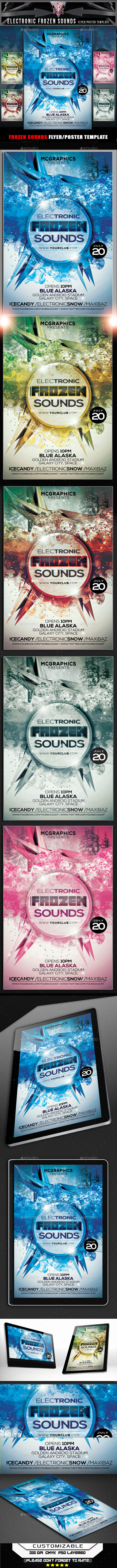 GraphicRiver Frozen Sounds Flyer Template 11959645