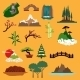 Nature Landscape Elements And Buildings - GraphicRiver Item for Sale