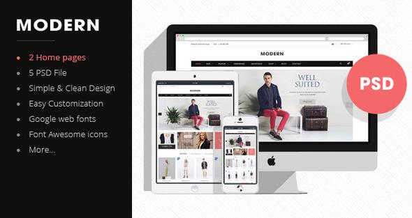 Morden – Premium Fashion PSD Template (Fashion) Download