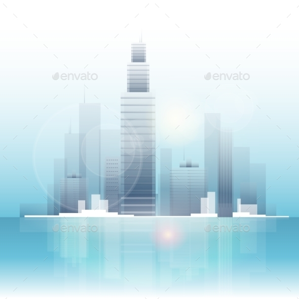 GraphicRiver City Skyscraper View Cityscape Background Skyline 11963318