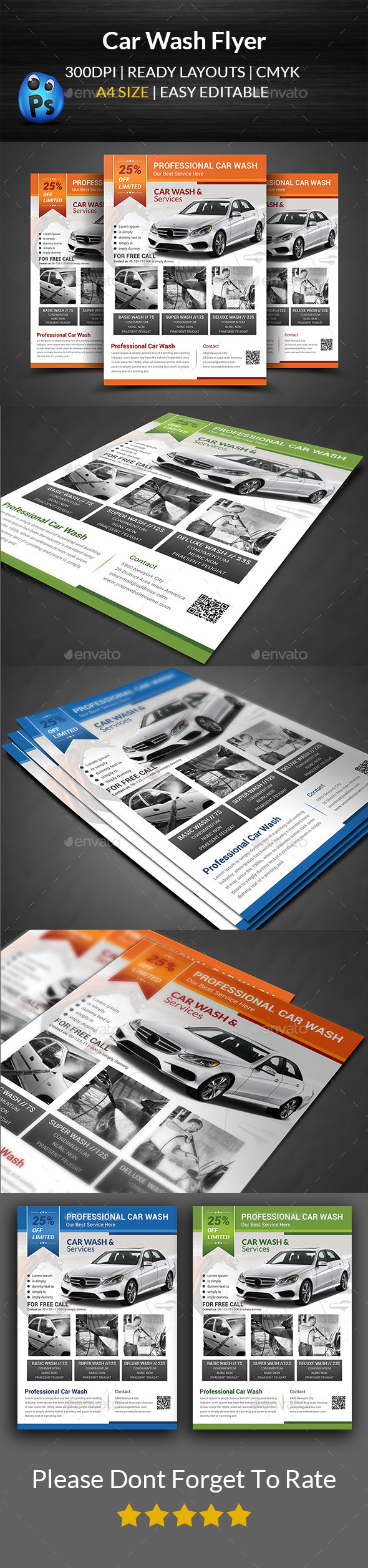 GraphicRiver Car Wash Flyer Templates 11963481