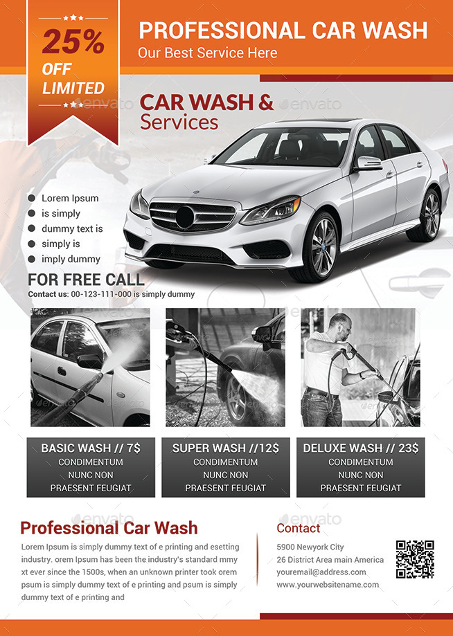 Car Wash Flyer Templates by afjamaal – Car Wash Flyer Template