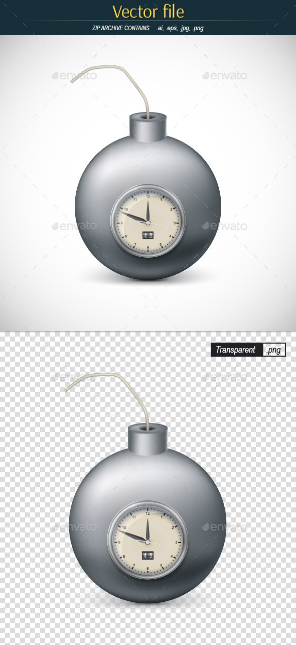 GraphicRiver Bomb with Mechanic Clock 11963586