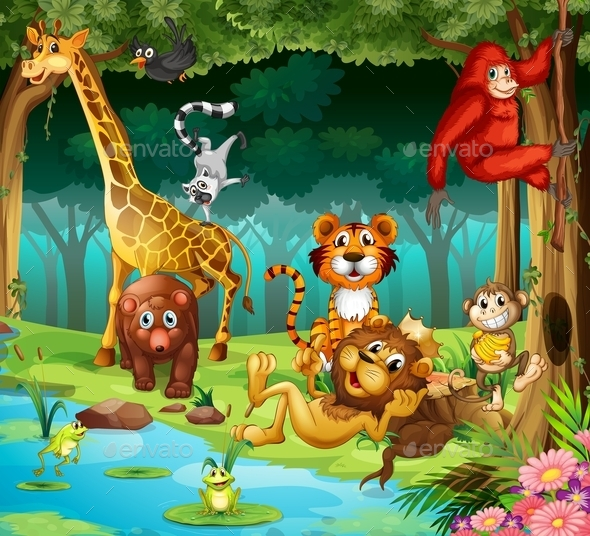 GraphicRiver Animals and Forest 11963620