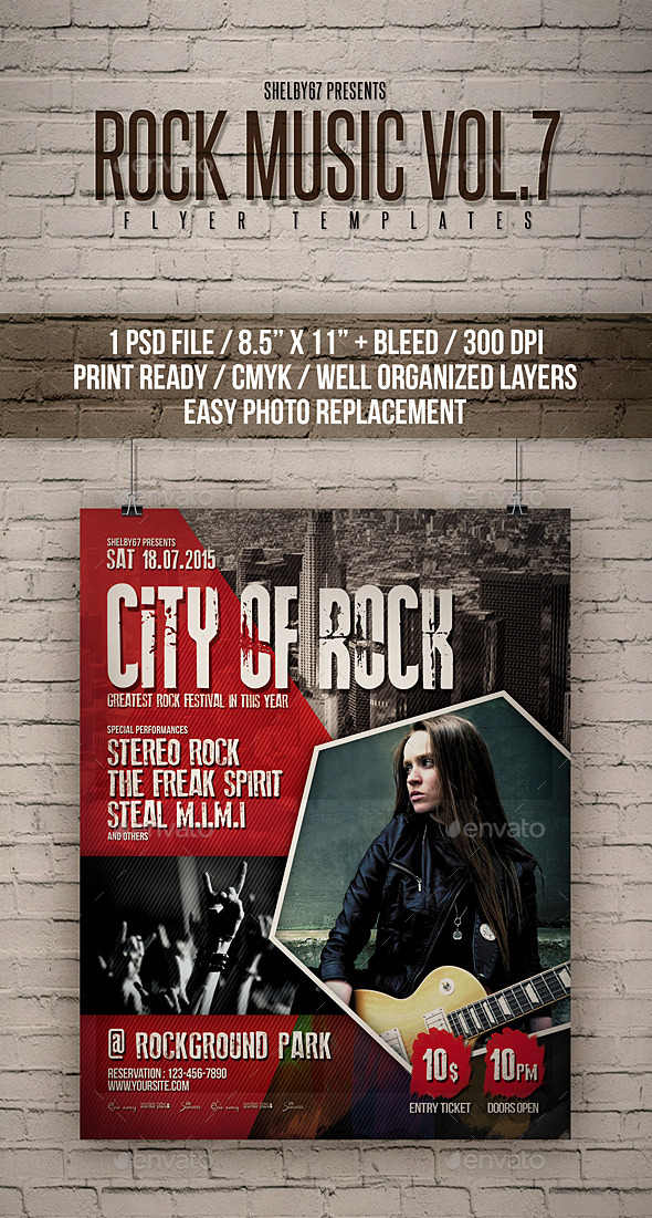 GraphicRiver Rock Music Flyer Poster Vol 7 11964382