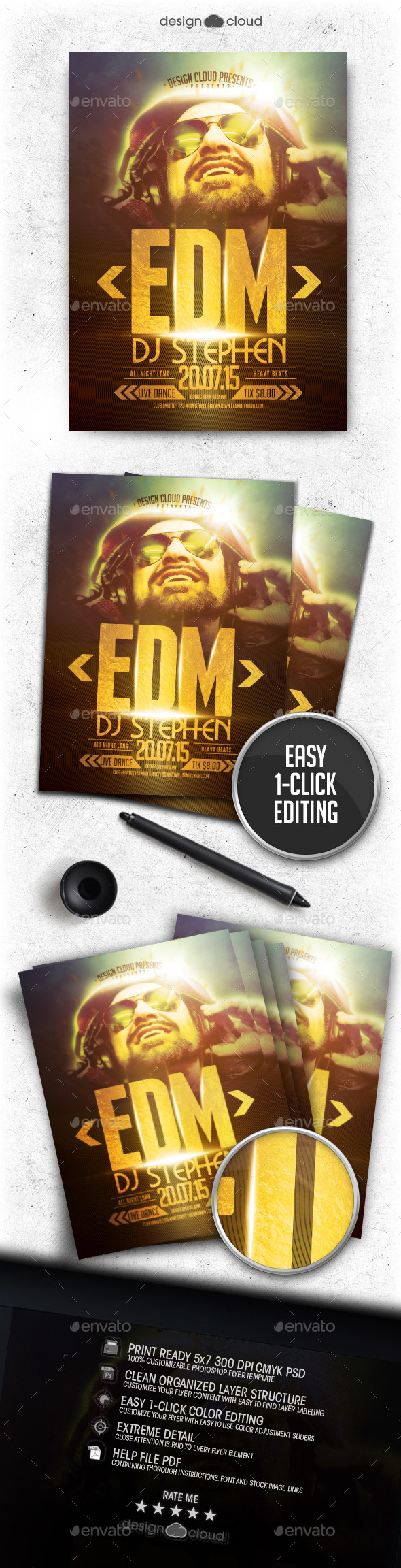 GraphicRiver DJ Vol 1 Flyer Template 11964437