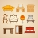 Set Of Ten Illustrations Of Home Furnishings. - GraphicRiver Item for Sale