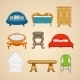 Set Of Illustrations Of Home Furnishings - GraphicRiver Item for Sale