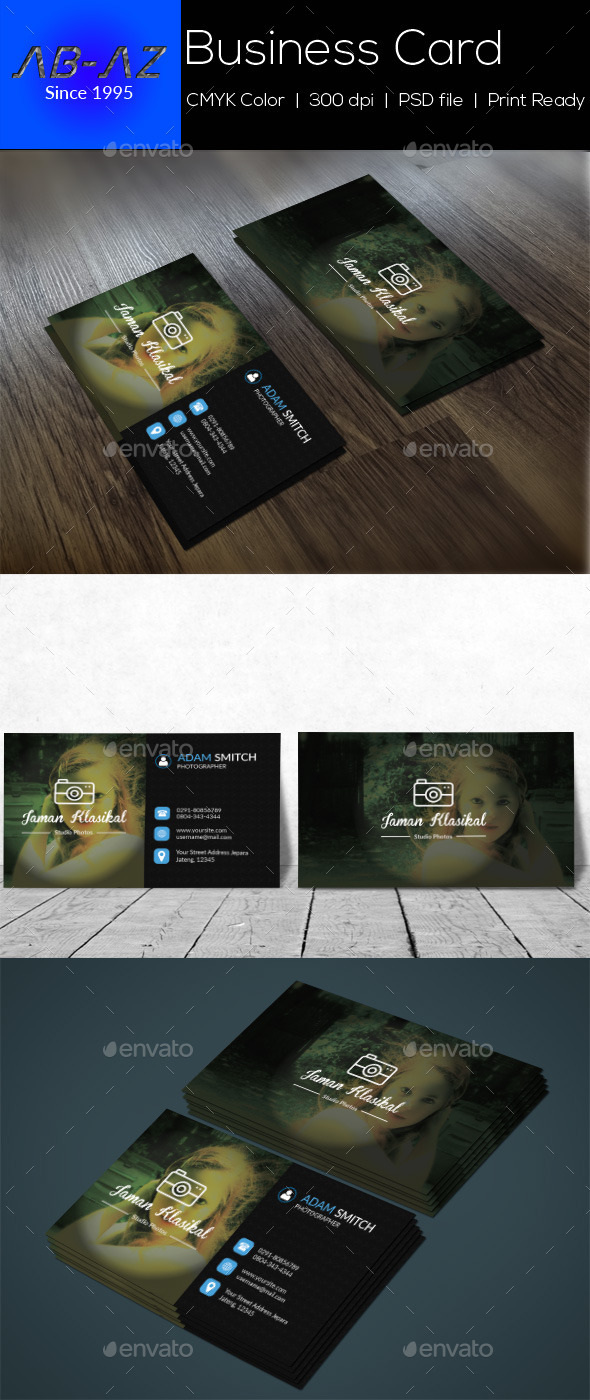 GraphicRiver Photography Business Card V1 11964646
