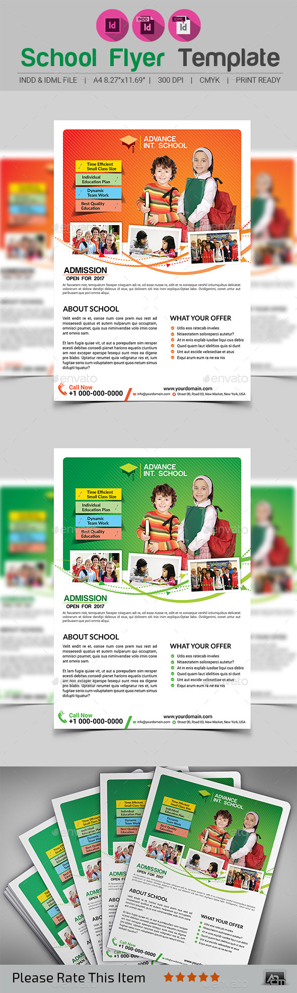 GraphicRiver School Flyer Template V2 11964711