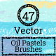 Vector Oil Pastels Brushes-Graphicriver中文最全的素材分享平台