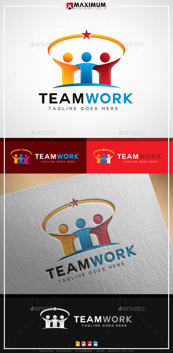 GraphicRiver TeamWork Logo 11964797