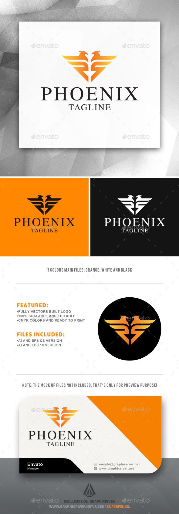 GraphicRiver Phoenix Logo 11964815