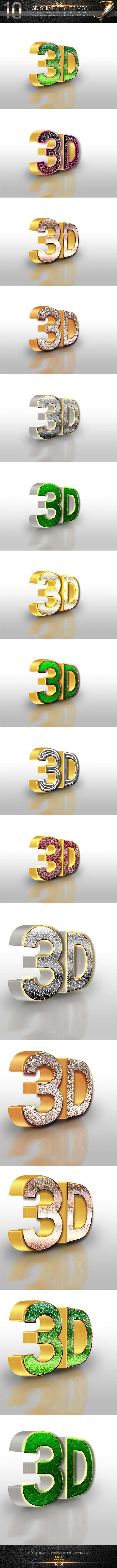 GraphicRiver 10 3D Text Style V.50 11965140