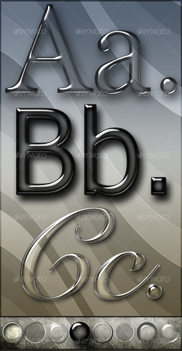 Elegant Glass Text Effects & Styles - GraphicRiver Item for Sale