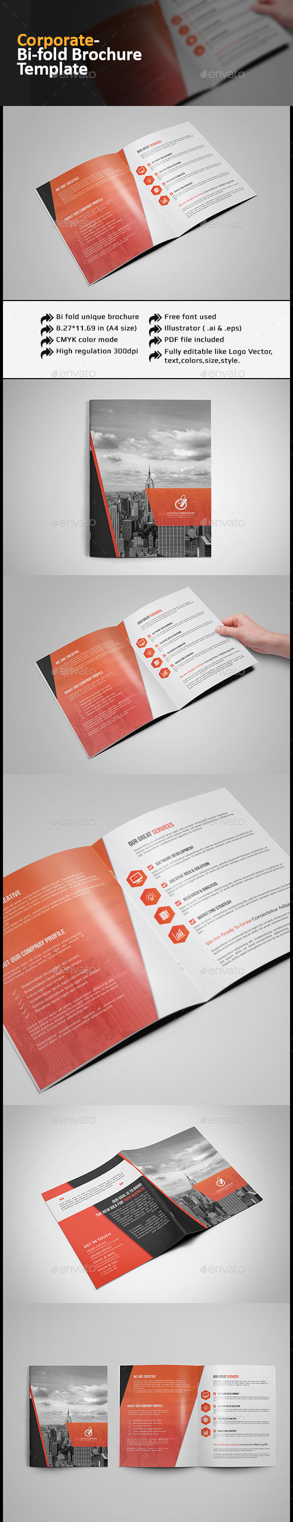 GraphicRiver Corporate Bi-fold Brochure 11965389