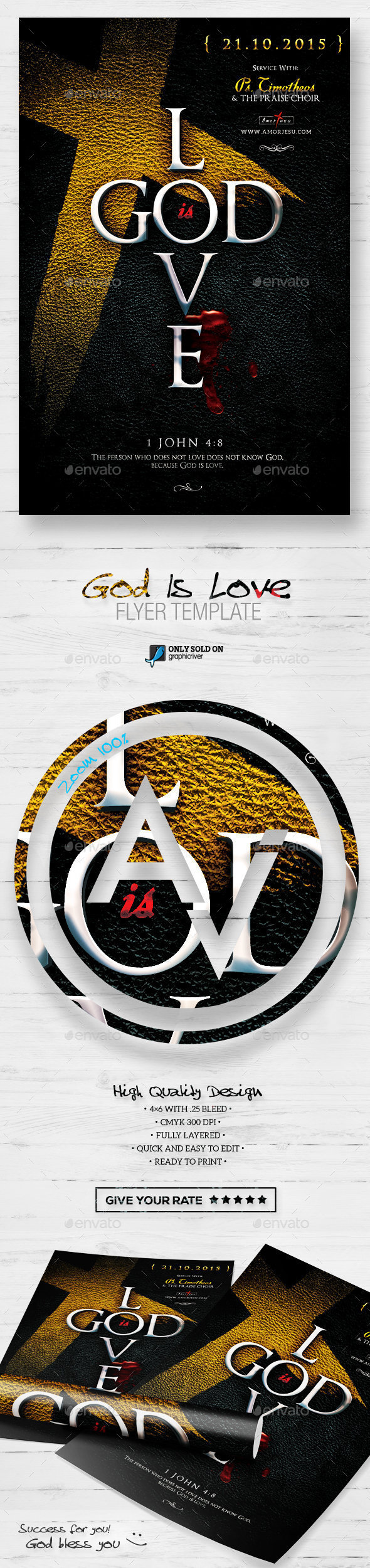 GraphicRiver God Is Love Flyer Template 11965617