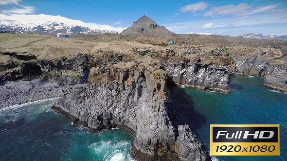 Iceland Coast Rocks
