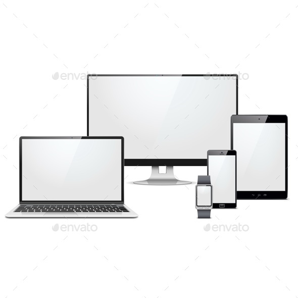 GraphicRiver Vector Modern Electronic Devices Set 11966302