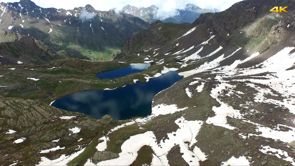 Aerial Mountains and Glacier Lakes 1