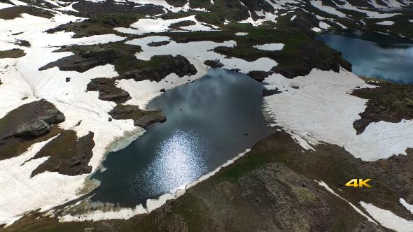 Aerial Mountains and Glacier Lakes 2