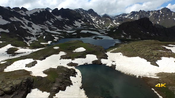 VideoHive Aerial Mountains and Glacier Lakes 4 11966408