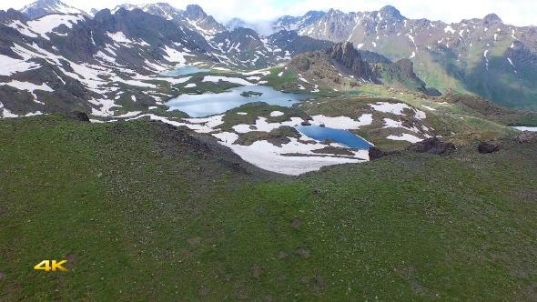 Aerial Mountains and Glacier Lakes 6