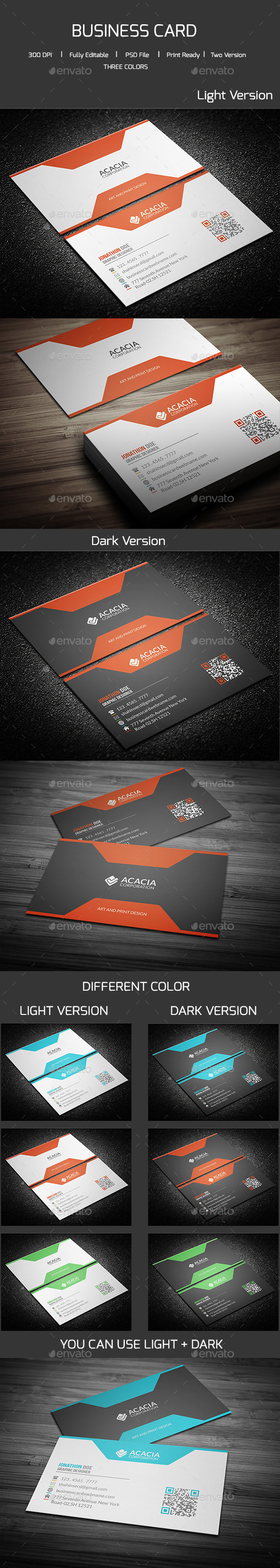 GraphicRiver Simple Corporate Business Card 11966554