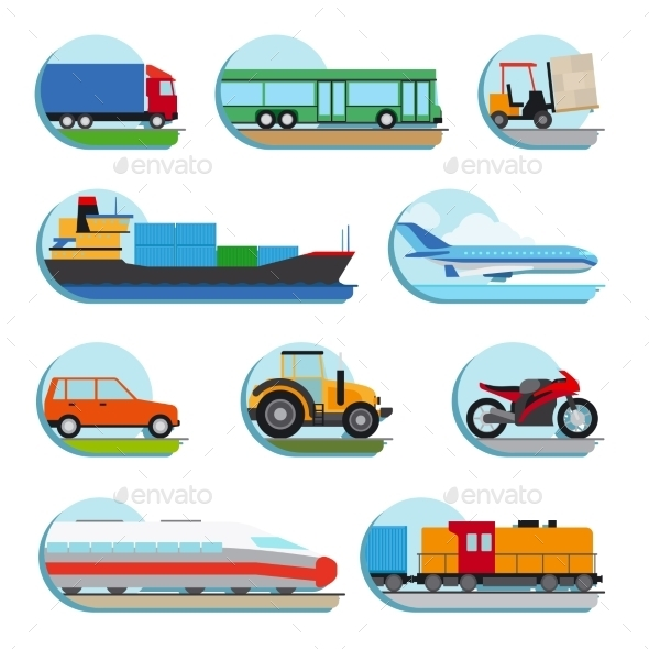 GraphicRiver Transportation Icons 11966649