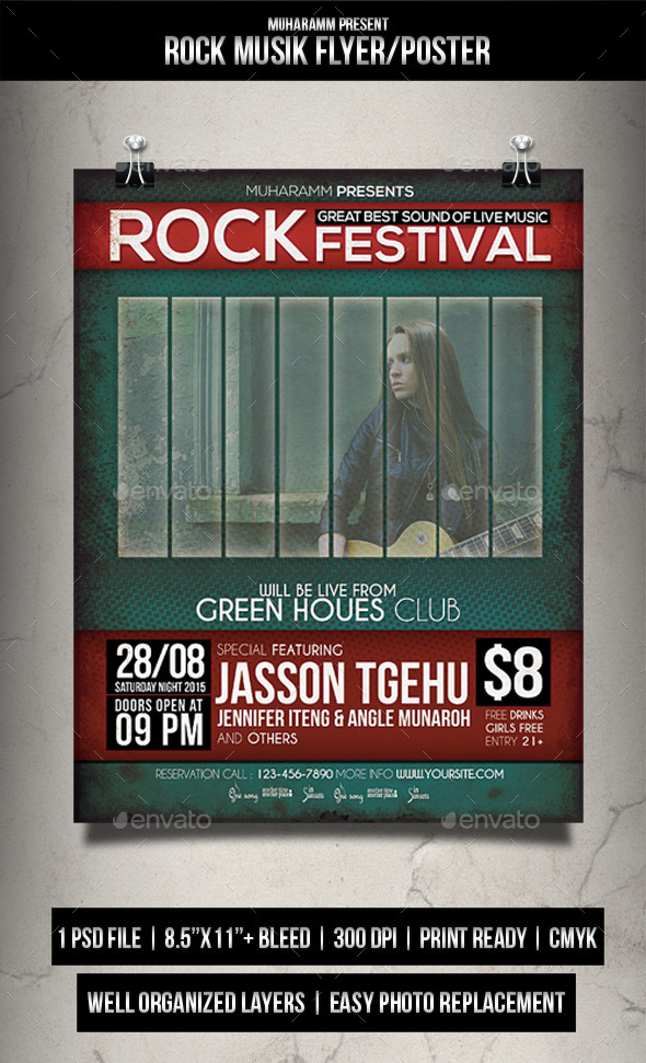 GraphicRiver Rock Music Flyer Poster 11967313