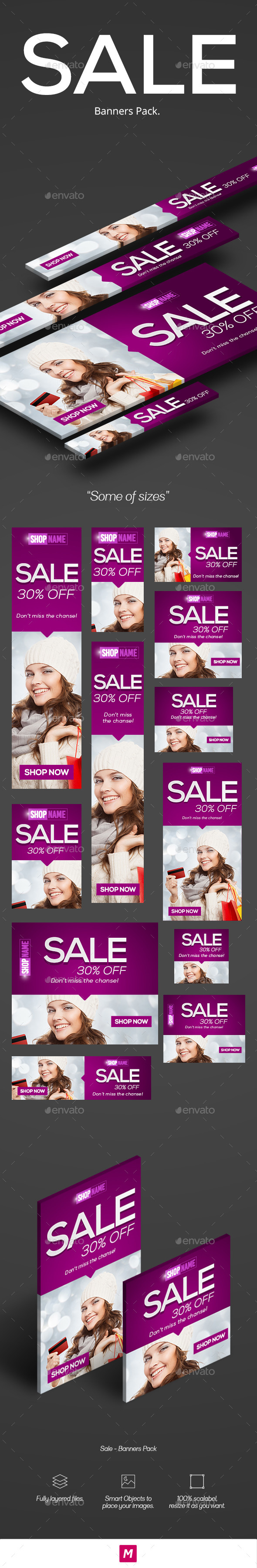 GraphicRiver Sale Banners Pack 11967385