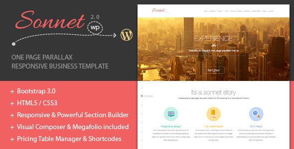 Sonnet One Page Wordpress Multipurpose Portfolio - Creative WordPress