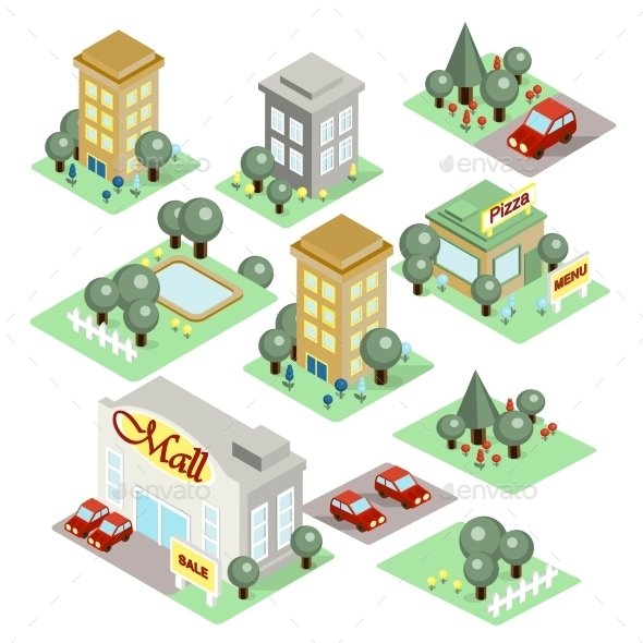 GraphicRiver Set Of The Isometric City 11967848