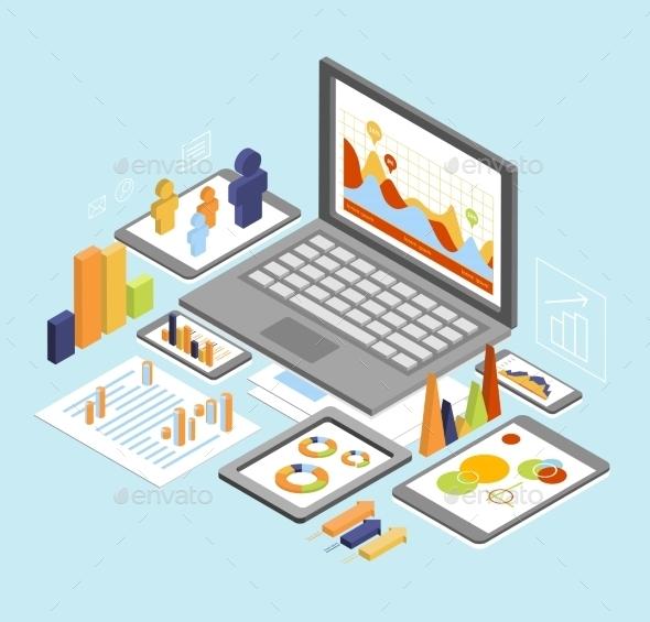 GraphicRiver Business Analysis Isometric 11967884