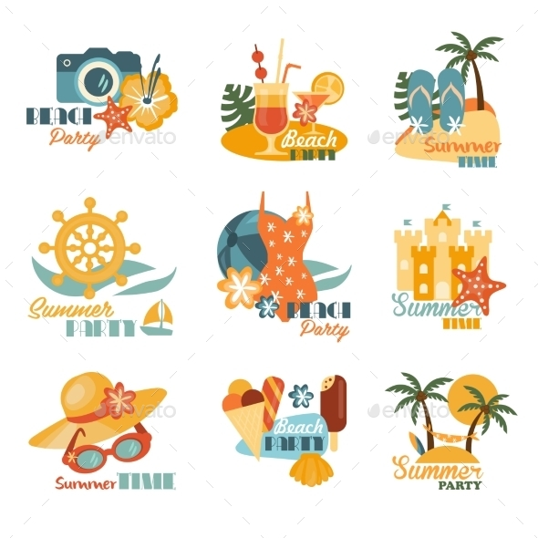 GraphicRiver Beach And Summer Labels Set 11967914