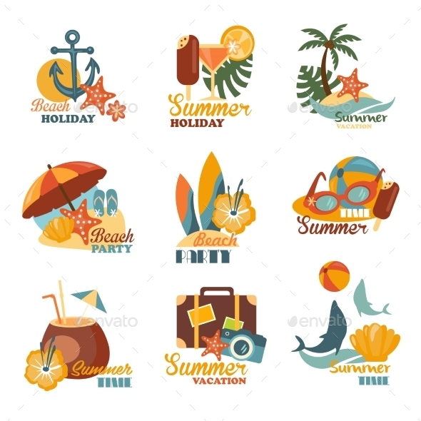GraphicRiver Beach And Summer Labels Set 11967916