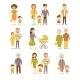 Family Figures Icons Set  - GraphicRiver Item for Sale