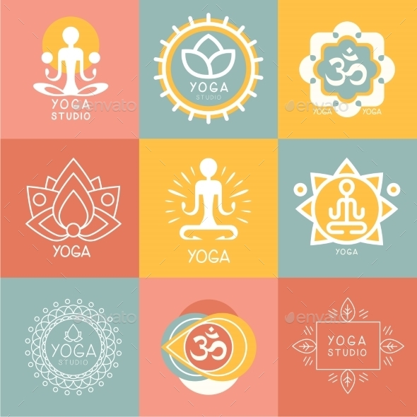 GraphicRiver Set Of Yoga And Meditation Symbols 11967981