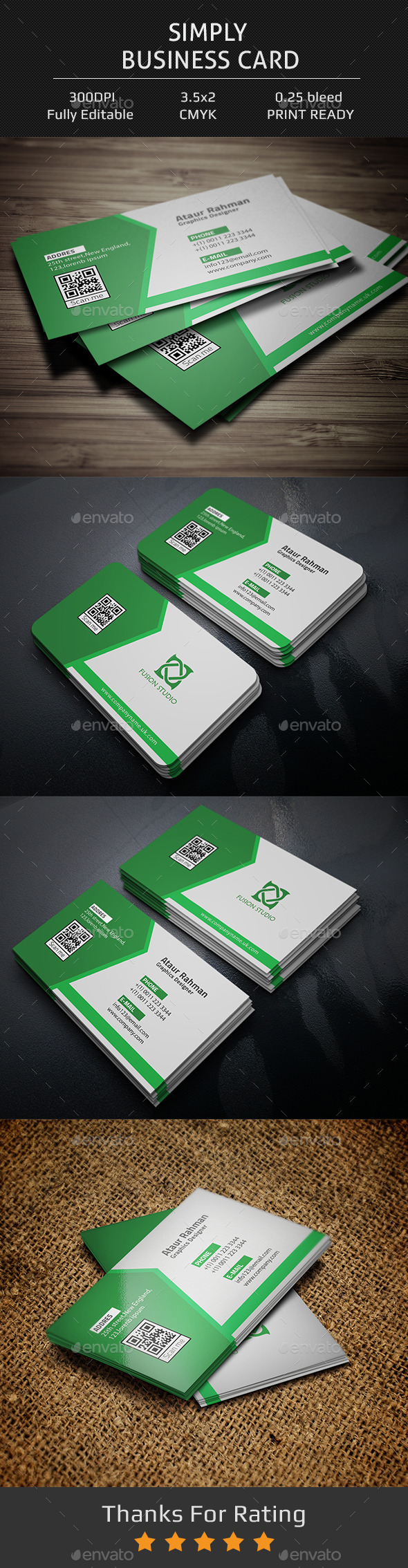 GraphicRiver Simply Business Card 11968356