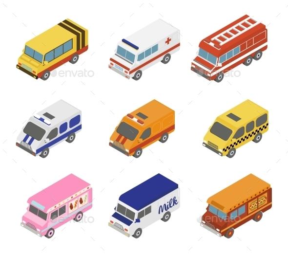 GraphicRiver Isometric Public City Transport 11968447