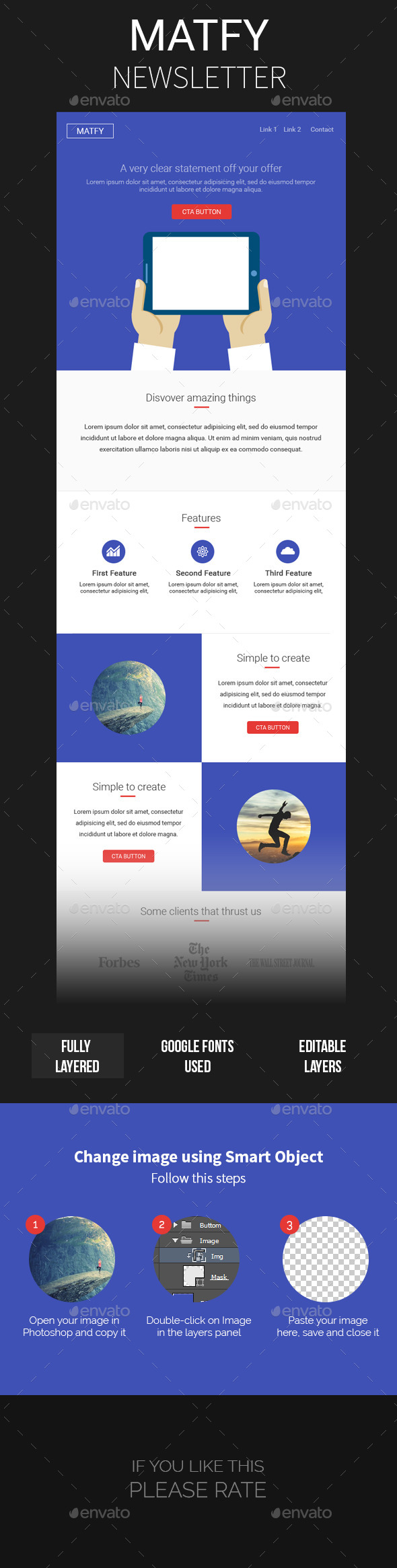 GraphicRiver Matfy Multiporpouse Newsletter Template 11968604
