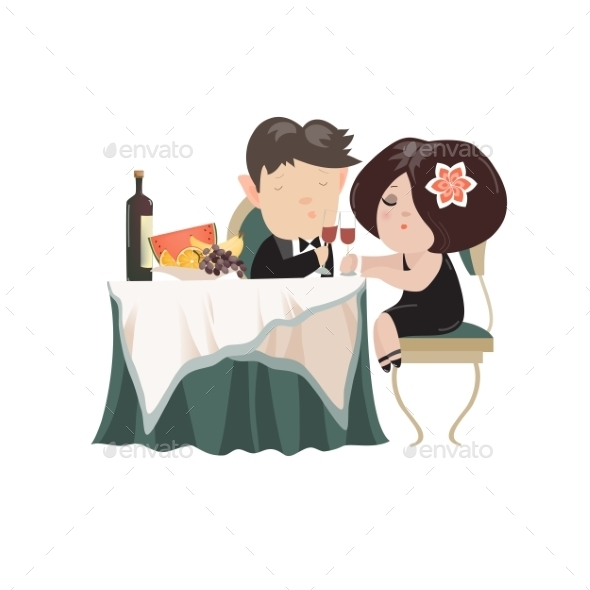GraphicRiver Young Adult Couple Drinking Red Wine 11968627