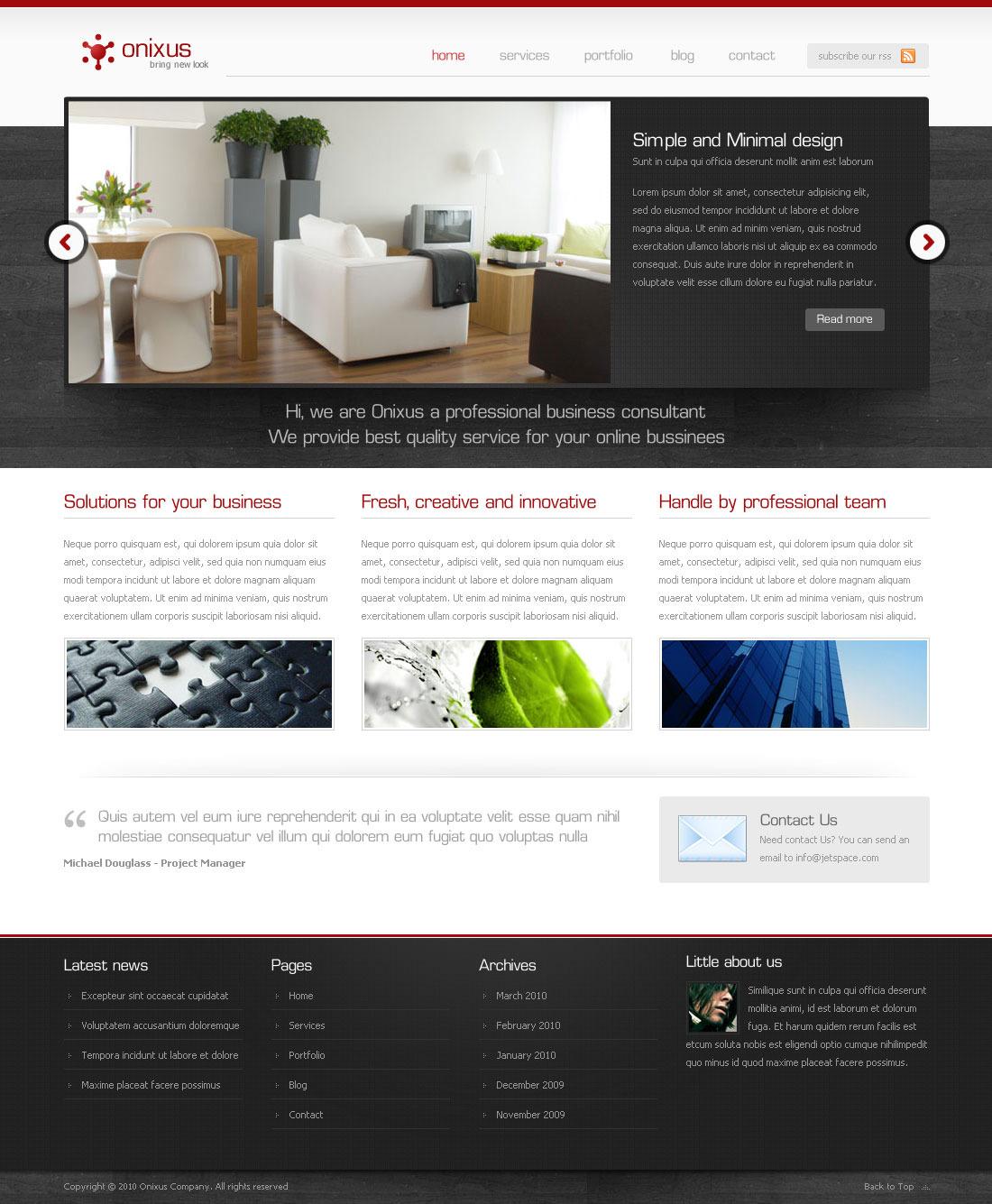 Onixus - Corporate Business Wordpress Theme 3