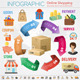 Internet Shopping Infographic - GraphicRiver Item for Sale