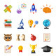 Online Education Flat Icon Set - GraphicRiver Item for Sale