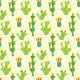 Seamless Pattern With Cactus - GraphicRiver Item for Sale