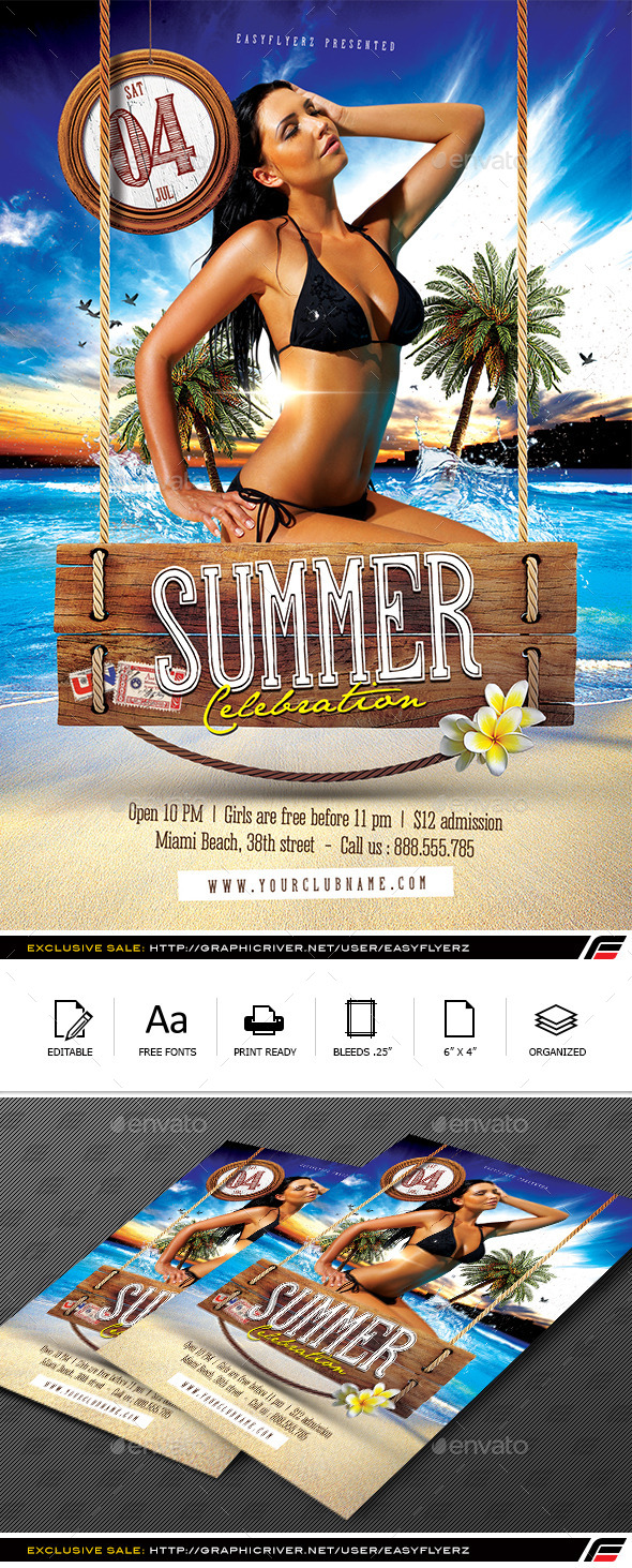 GraphicRiver Summer Celebration Flyer Template 11969131