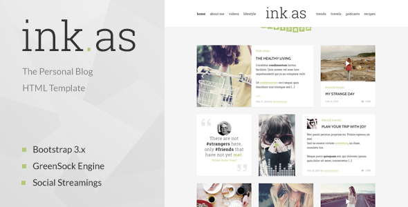 Inkas – The Personal Blog HTML Template  (Personal) Download
